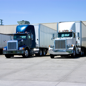 Trucks parked creating a load in TruckLogics Trucking Management System