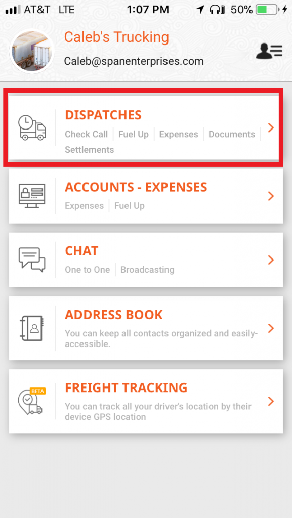 TruckLogics mobile app trucking dispatch software