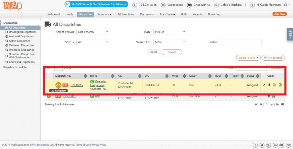 TruckLogics trucking dispatch software