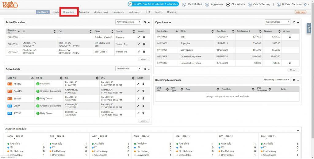 TruckLogics truck dispatching software