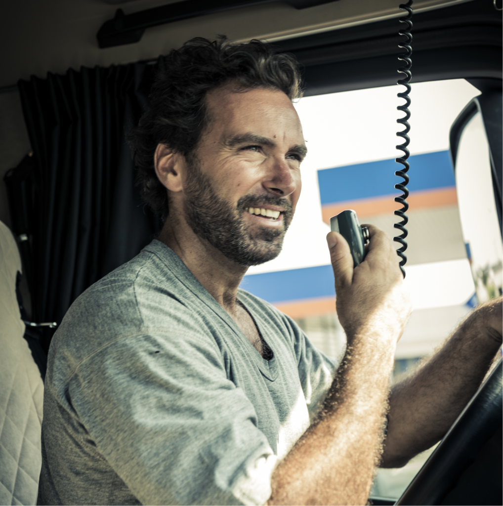 Trucker switching trucks midtrip with TruckLogics trucking dispatch software.