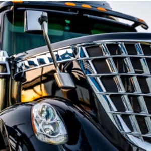 Trucker using TruckLogics trucking dispatch software.