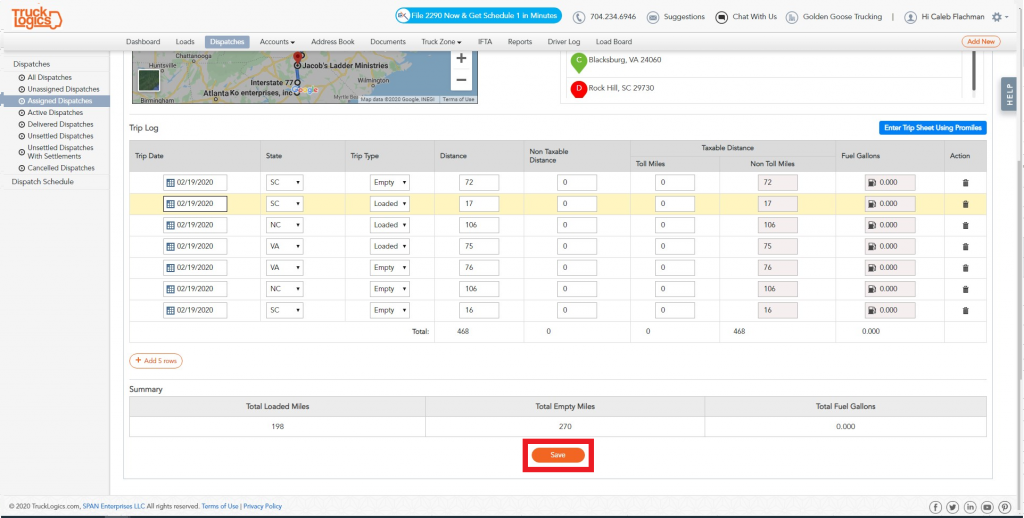 Trucklogics trucking management system for IFTA reporting