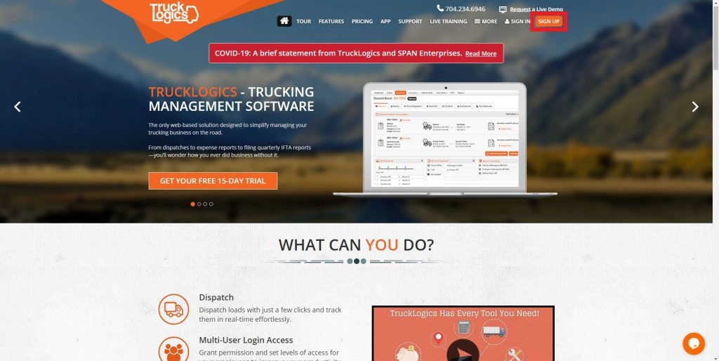 TruckLogics trucking management system
